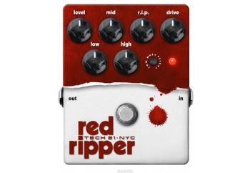 Tech 21 RIP Red Ripper Distortion Bass Effects Pedal - Distortion Pedalı