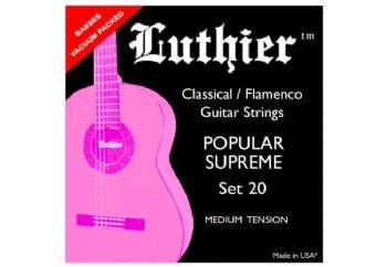 Luthier Popular Supreme Set 20 Takım Tel - Klasik gitar teli