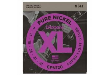 D'Addario EPN120 Pure Nickel, Super Light, 9-41 Takım Tel - Elektro Gitar Teli 009-041