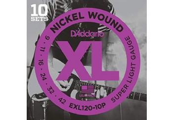 D'Addario EXL120-10P Takım Tel - Elektro Gitar Teli 009-42 (10 Set)