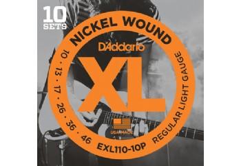 D'Addario EXL110-10P Takım Tel - Elektro Gitar Teli 010-46 (10 Set)