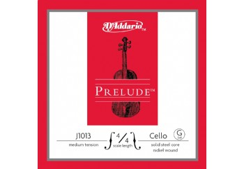 D'Addario J1013 4/4 Prelude Cello Single G Medium Tension G (Sol) Tek Tel - Çello Teli (G) Sol