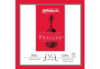 D'Addario J1012 4/4 Prelude Cello Single D, Medium Tension Tek Tel (Re) - Çello Teli