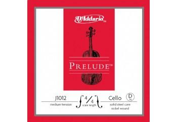 D'Addario J1012 4/4 Prelude Cello Single D, Medium Tension Tek Tel (Re)