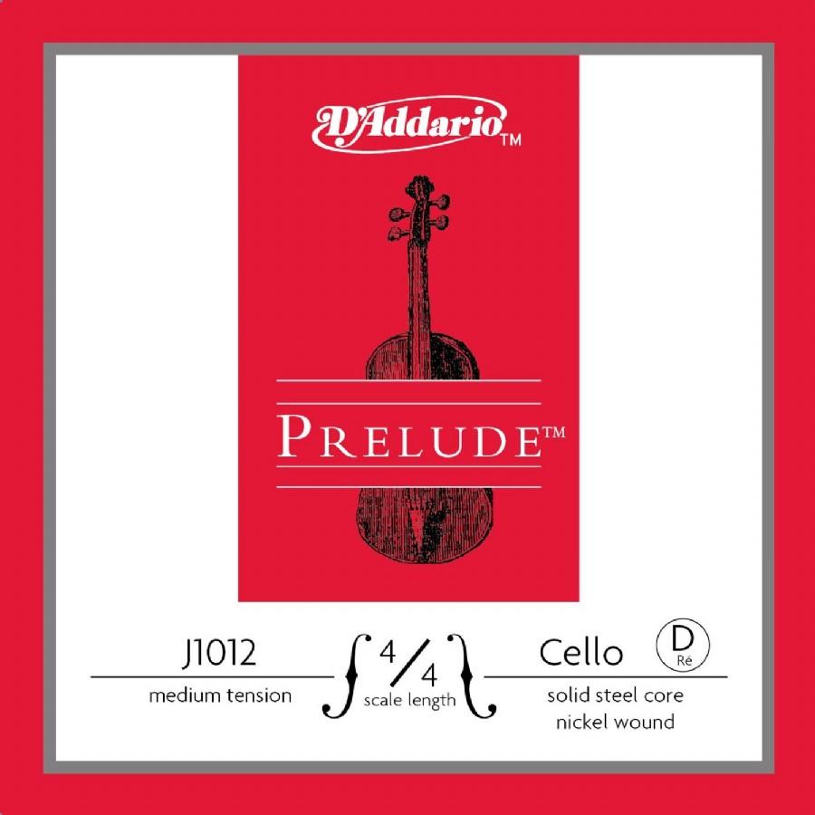 D'Addario J1012 4/4 Prelude Cello Single D, Medium Tension