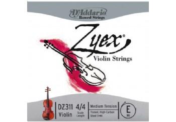 D'Addario DZ311 Zyex 4/4 Violin E String E (Mi) - Tek Tel