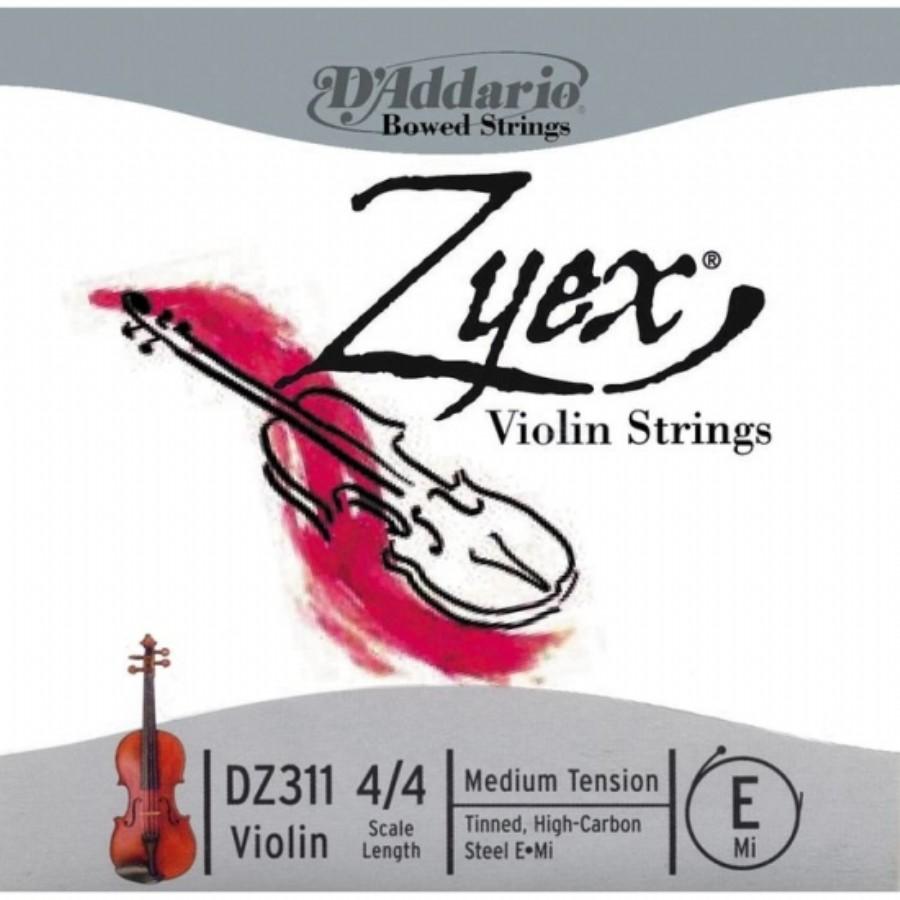 D'Addario DZ311 Zyex 4/4 Violin E String