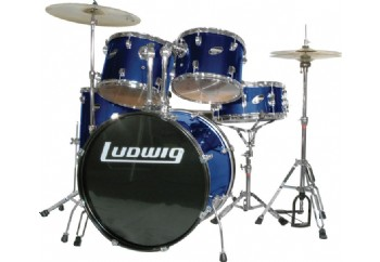 Ludwig Accent CS Combo Fuse 5 Piece Drum Set Blue - Akustik Davul Seti