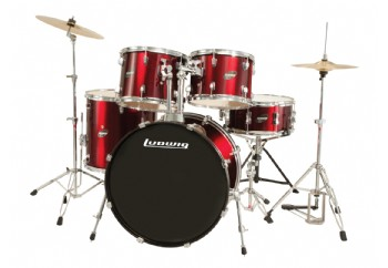 Ludwig Accent CS Combo Fuse 5 Piece Drum Set Wine Red
