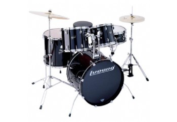 Ludwig Accent CS Combo Fuse 5 Piece Drum Set Black