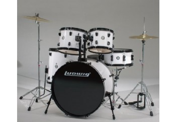 Ludwig Accent CS Combo Fuse 5 Piece Drum Set White