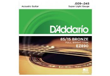 D'Addario EZ890 Takım Tel - Akustik Gitar Teli 009-045