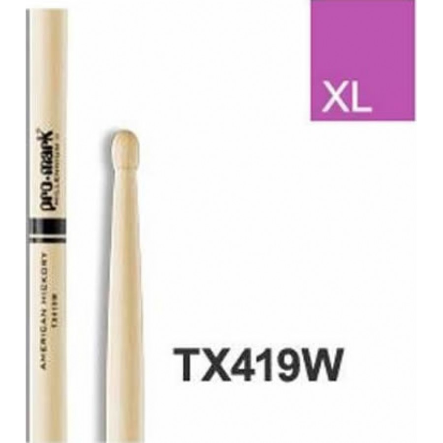 Promark TX419W Hickory 419 wood tip