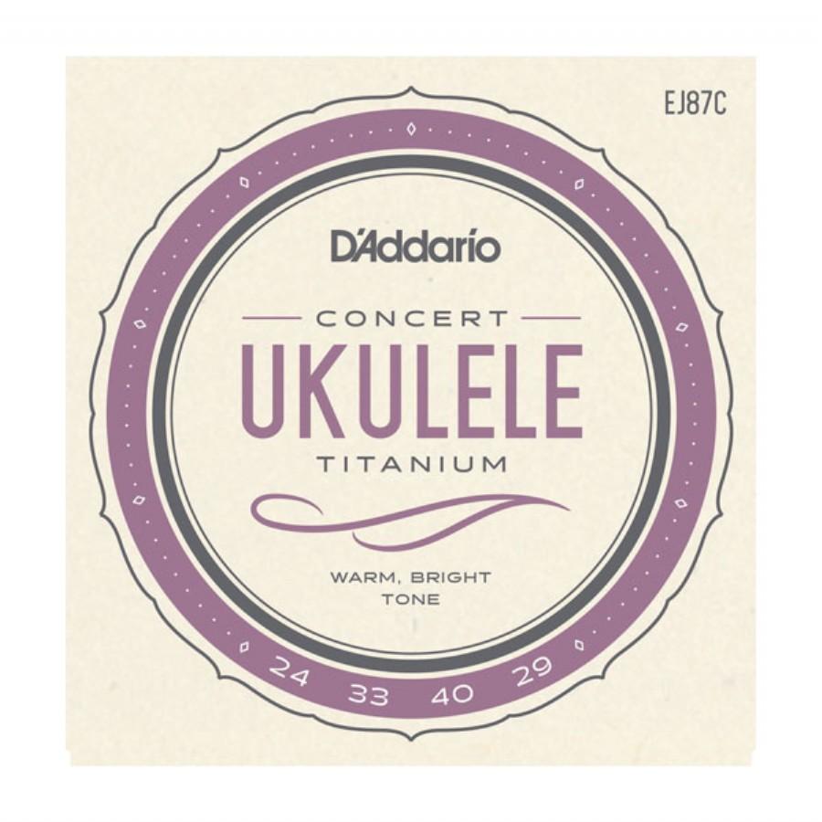 D'Addario EJ87C Titanium Ukulele, Concert