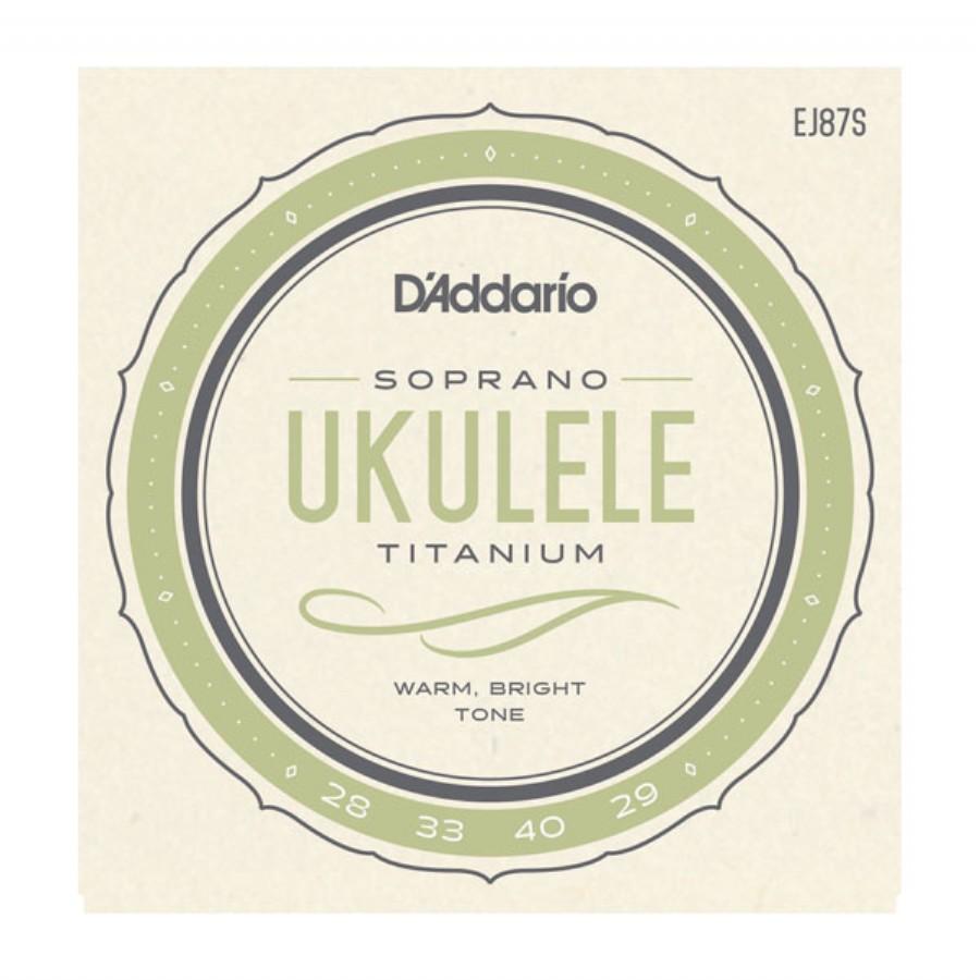 D'Addario EJ87S Titanium Ukulele, Soprano