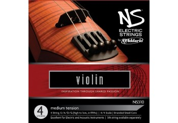D'Addario NS310 Electric Violin String Medium Tension Takım Tel - Elektro Keman Teli