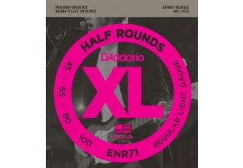 D'Addario ENR71 Half Rounds Bass, Regular Light, 45-100, Long Scale Takım Tel - Bas Gitar Teli 045-100