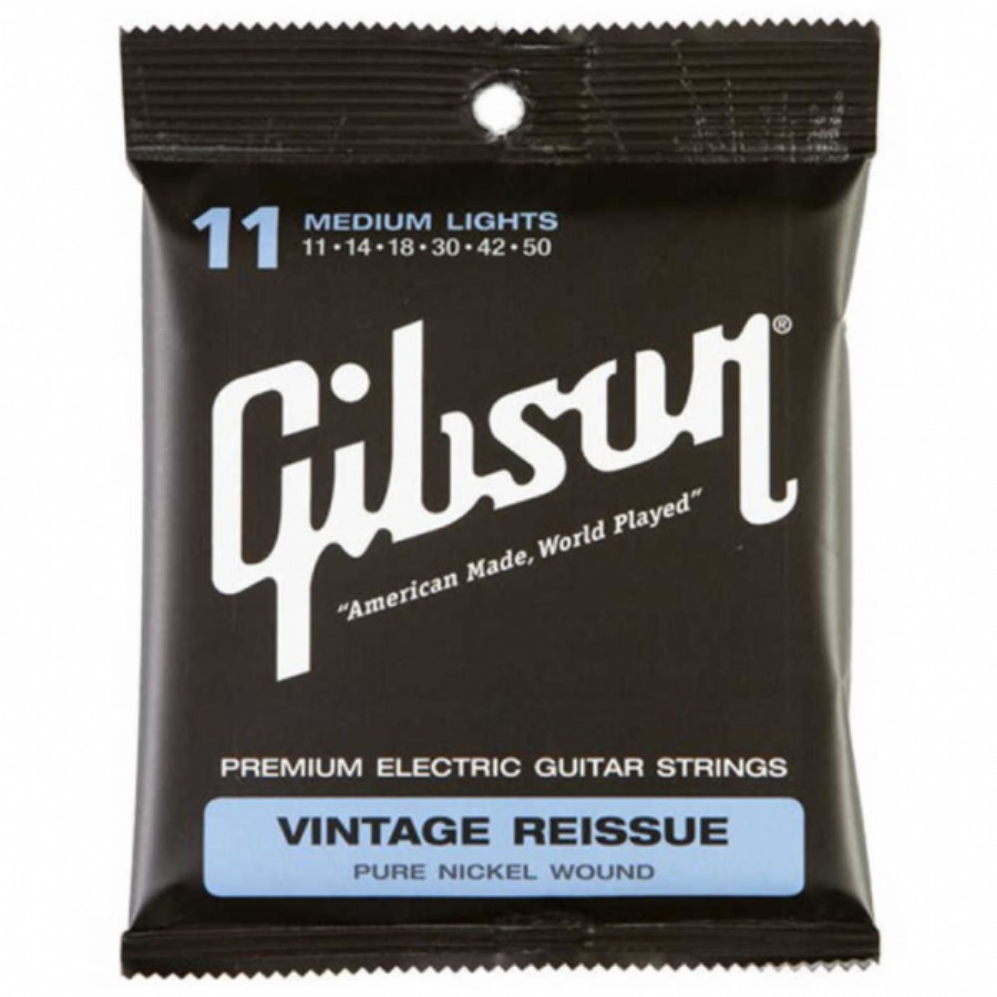 Gibson SEG-VR11 Vintage Reissue Electric Guitar Strings, Medium