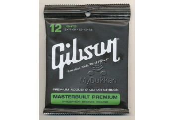 Gibson SAG-MB12 Masterbuilt Premium Phosphor Bronze Takım Tel