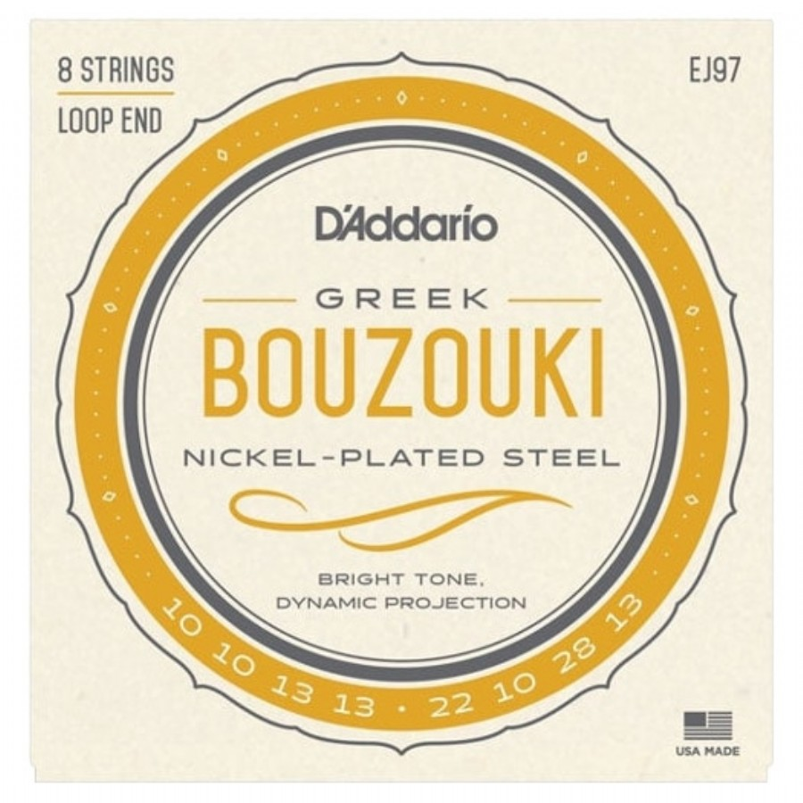 D'Addario J97 Bouzouki Greek Nickel