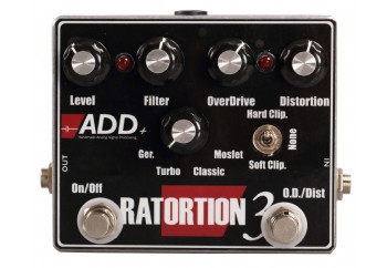 ADD+ Ratortion 3 V.2 - Overdrive / Distortion Pedalı