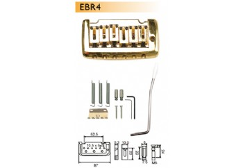 Dr.Parts EBR 4 Siyah - Elektro Gitar Köprü Seti
