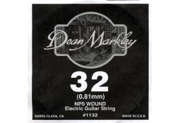 Dean Markley Wound Single 1132 - 032w - Elektro Gitar Tek Tel (Sarımlı)