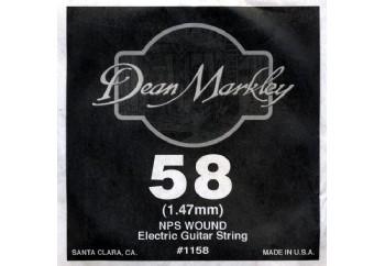 Dean Markley Wound Single 1158 - 058w - Elektro Gitar Tek Tel (Sarımlı)