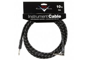 Fender Custom Shop Performance Series Cables Angled - Black Tweed (3 metre)