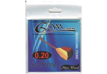 G.Masters Beyaz Bamlı Saz Teli - Uzun Sap Saz Teli 0.20