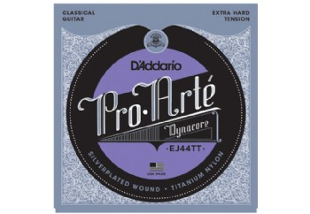 D'Addario EJ44TT Pro-Arté Dynacore, Titanium Trebles, Extra-Hard Tension Takım Tel - Klasik Gitar Teli