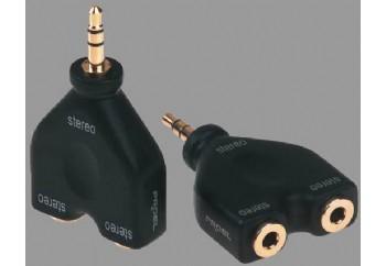 Proel DHPA140 - 2x3.5mm Stereo (Dişi) - 3.5mm Stereo (Erkek)