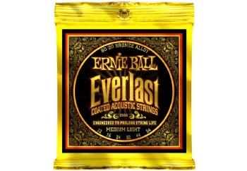 Ernie Ball 2556 Everlast 80/20 Bronze Medium Light Takım Tel - Akustik Gitar Teli 012-54