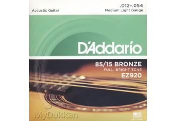 D'Addario EZ920 Takım Tel - Akustik Gitar Teli 012-054