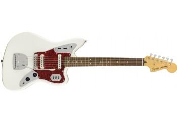 Squier Vintage Modified Jaguar Olympic White - Indian Laurel - Elektro Gitar