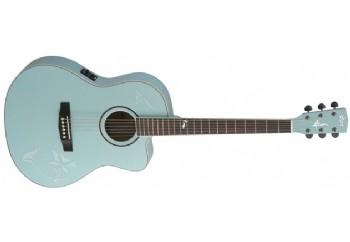 Cort Jade 2F PBM - Pale Blue Metallic - Elektro Akustik Gitar