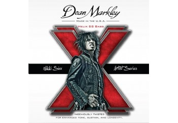 Dean Markley Nikki Sixx Custom 2620 Helix HD Stainless Steel Takım Tel - Bas Gitar Teli 050-110