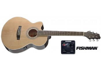 Stagg SA40MJCFI-LH Naturel - Solak Elektro Akustik Gitar