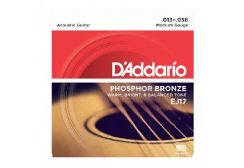 D'Addario EJ17 Phosphor Bronze, Medium, 13-56 Takım Tel - Akustik Gitar Teli 013-056