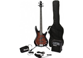 Ibanez IJSR190 Jumpstart Bass Package WNS - Walnut Sunburst - Bas Gitar Seti