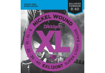 D'Addario EXL120BT Nickel Wound, Balanced Tension Super Light, 09-40 Takım Tel - Elektro Gitar Teli 009-040