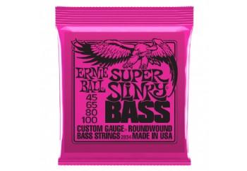 Ernie Ball 2834 Slinky Round Wound Bass Super 4-str. Takım Tel - Bas Gitar Teli 045-100