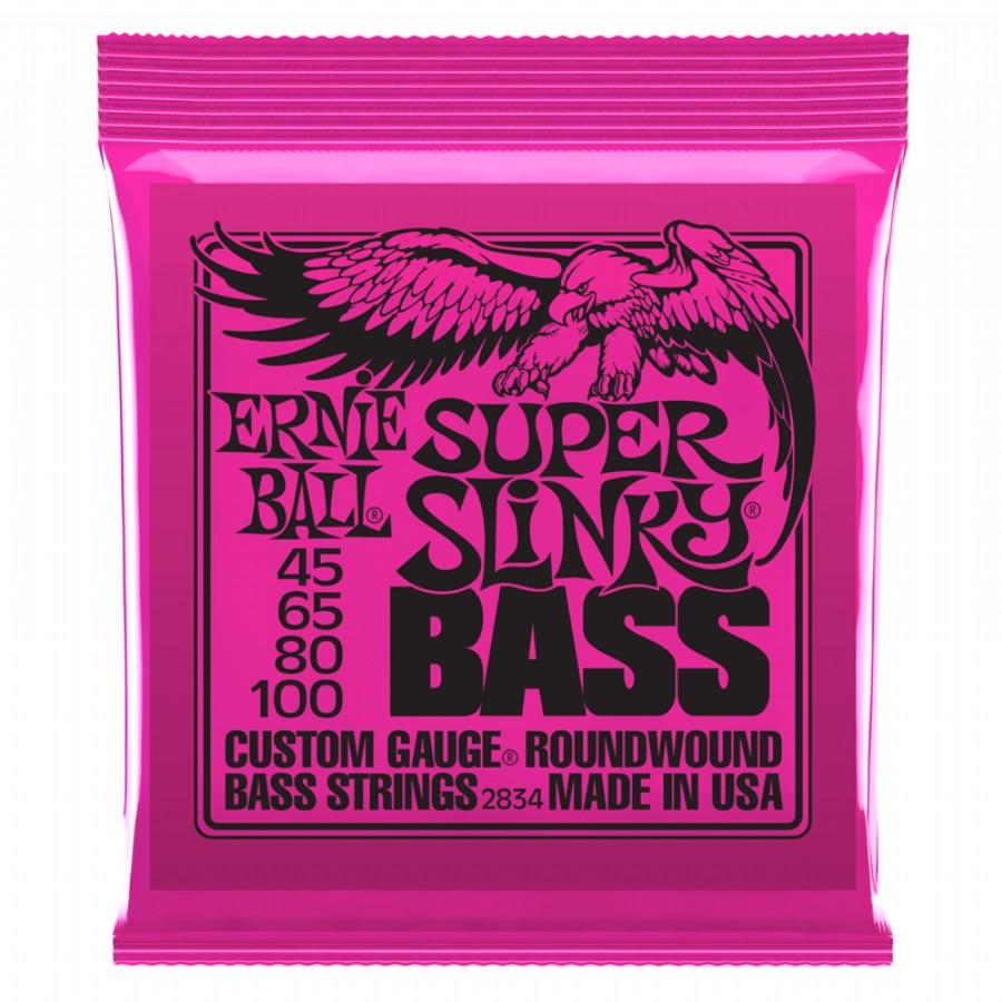 Ernie Ball 2834 Slinky Round Wound Bass Super 4-str.
