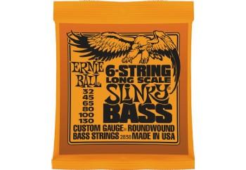 Ernie Ball 2838 Slinky Round Wound Bass 6-str. Takım Tel - Bas Gitar Teli 032-130