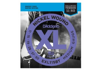 D'Addario EXL115BT Nickel Wound, Balanced Tension Medium, 11-50 011-050 Takım Tel - Elektro Gitar Teli
