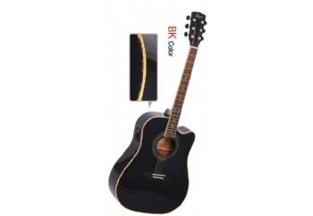 Cort AD880CE/W Bag BK - Siyah - Elektro Akustik Gitar