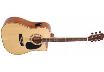 Cort AD880CE/W Bag Naturel - Elektro Akustik Gitar