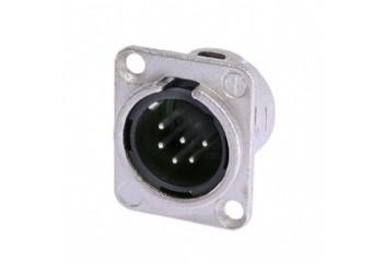 Neutrik NC6MD-L-1 - Şasi Tipi XLR erkek Jack (6 Pin)