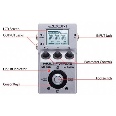 Zoom MS-50G MultiStomp Effects Pedal