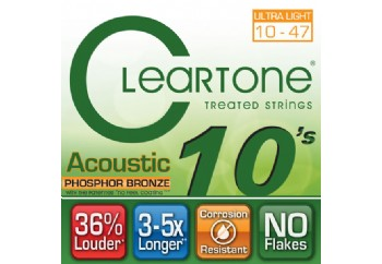 Cleartone Phos-Bronze Ultra Light 10-47 Takım Tel - Akustik Gitar Teli 010-047